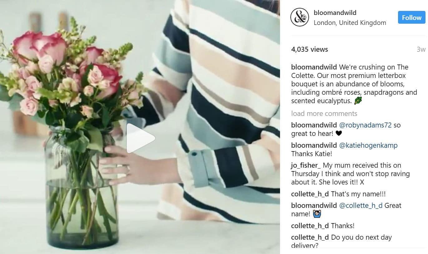 Instagram-Anzeige