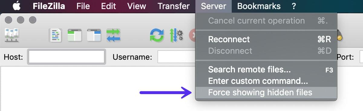 Force showing hidden files (Versteckte Dateien erzwingen)