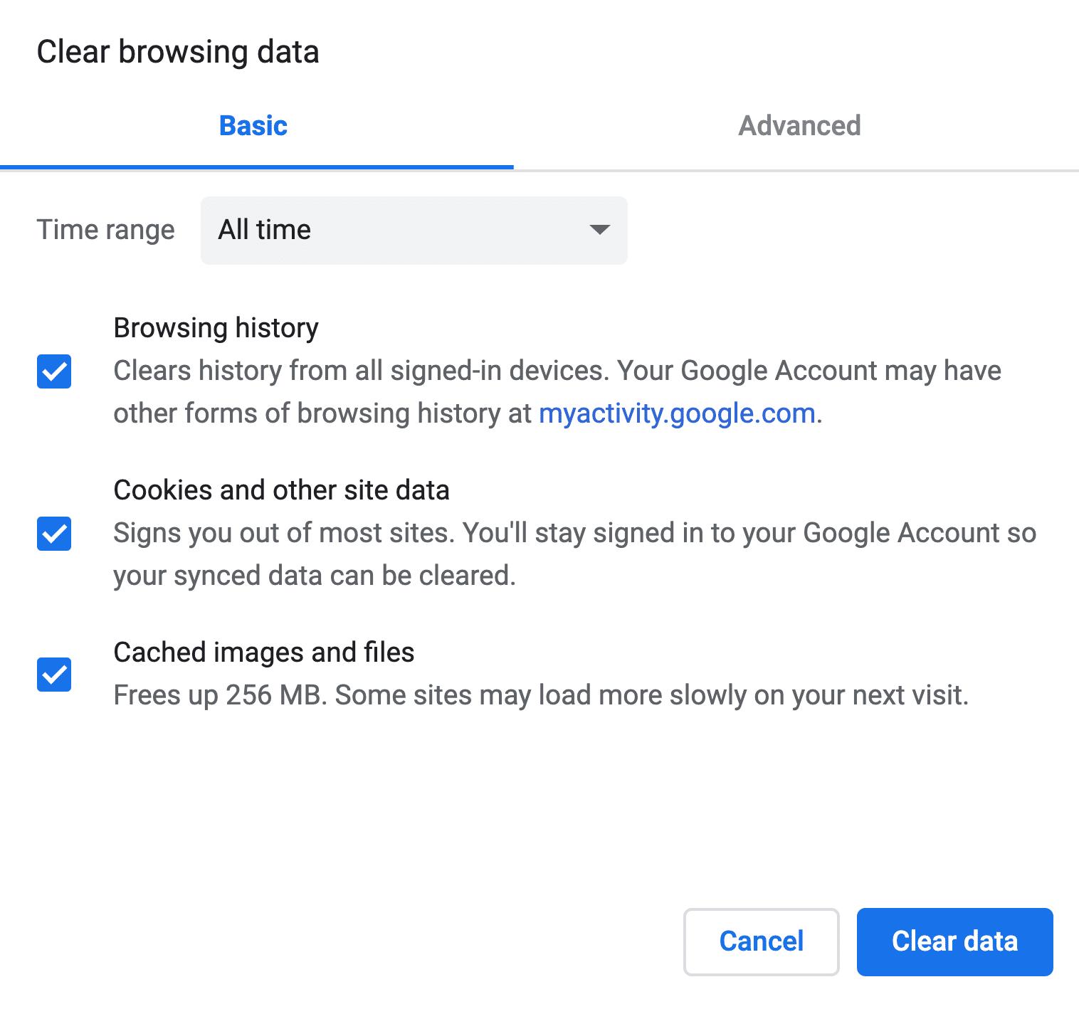 Browserdaten löschen