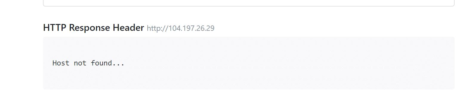 Ein Beispiel für ein Problem mit deinem Server