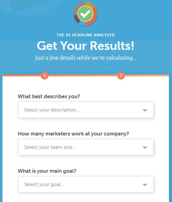 Du musst auch einige Fragen über dein Unternehmen beantworten.
