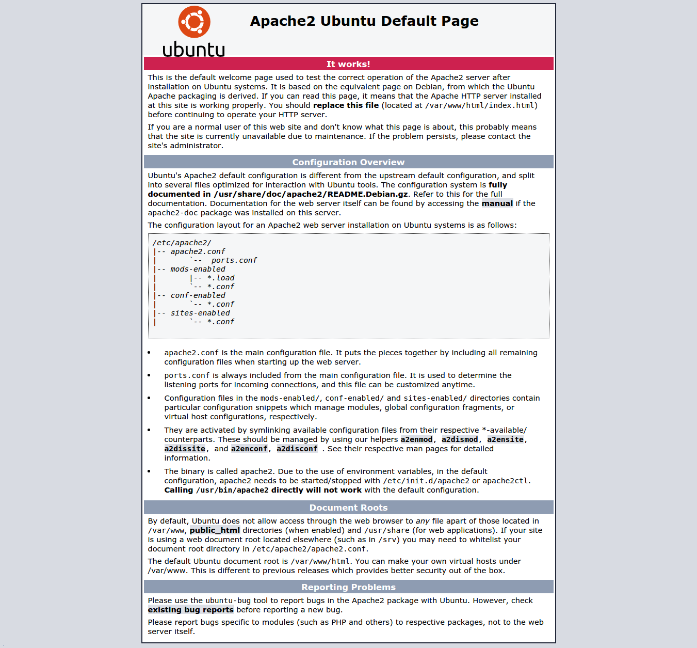 Ubuntu Standardseite