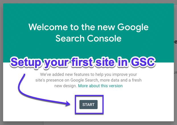 Die Seite in der Google Search Console einrichten