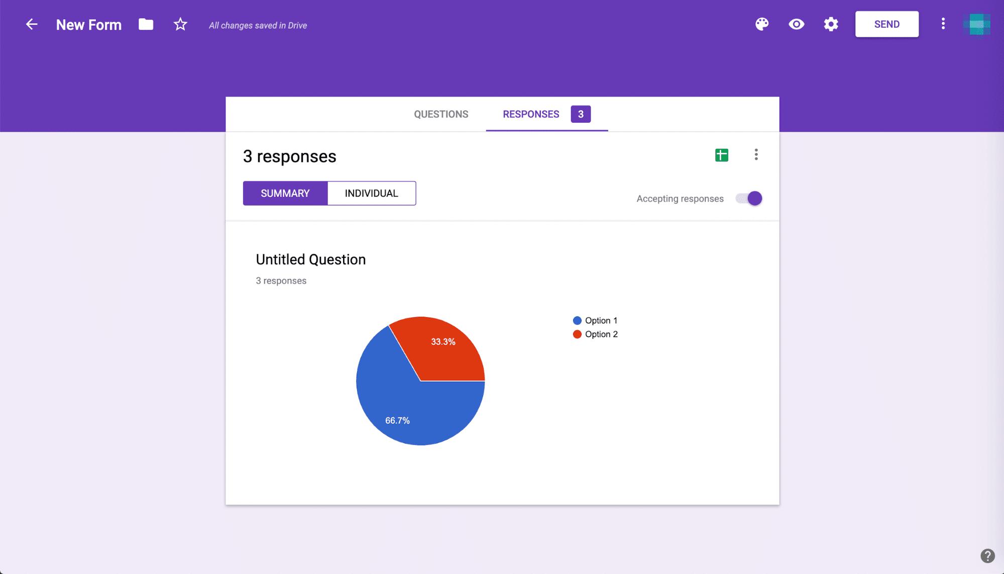 Google Form Antworten