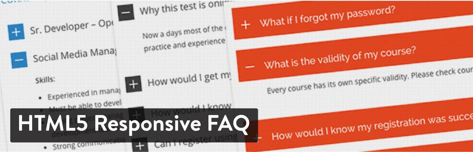 WordPress FAQ plugin: HTML5 Responsive FAQ