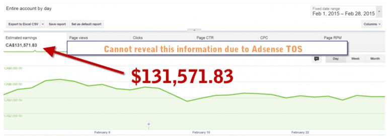 AdSense Einnahmen