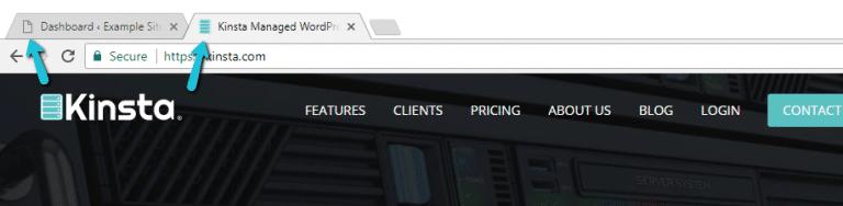 Ein Beispiel für ein WordPress-Favicon