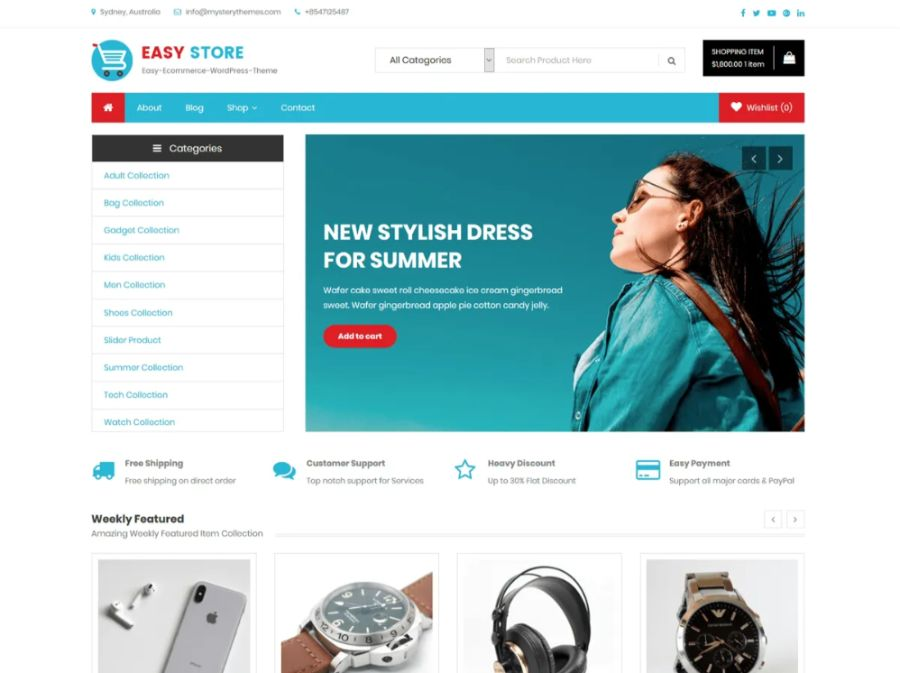 Easy Store WooCommerce theme