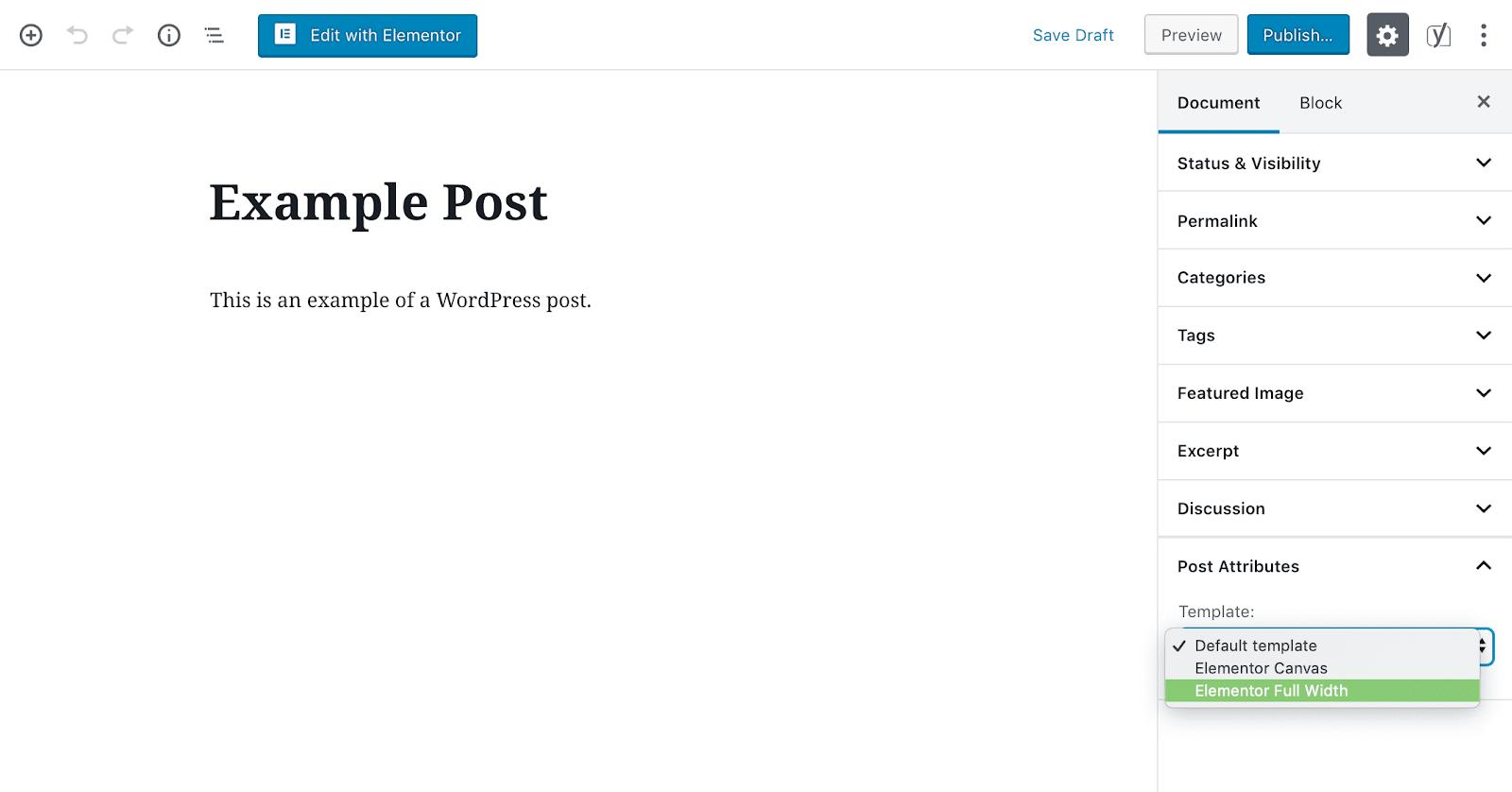 Beispiel für einen Post in voller Breite