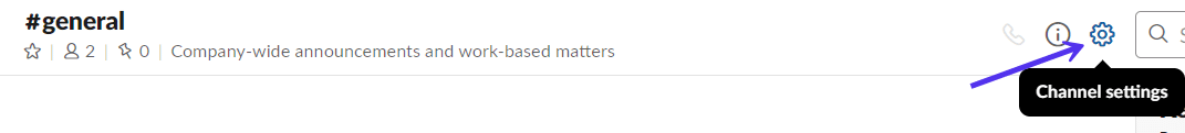 Einstellungen für den Slack-Kanal