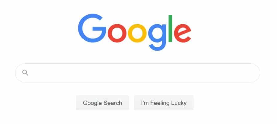 Startseite der Google-Suche