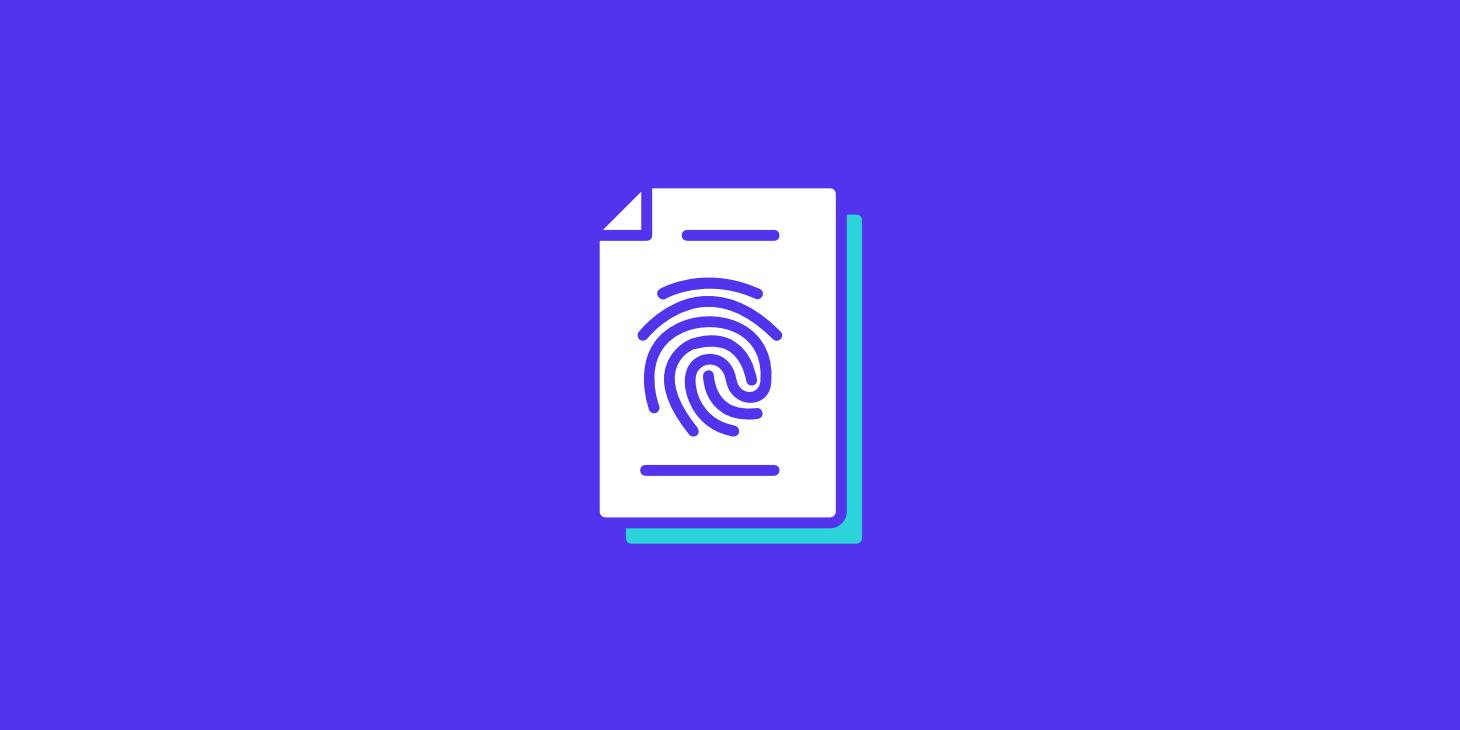 Seitendatei Fingerabdruck
