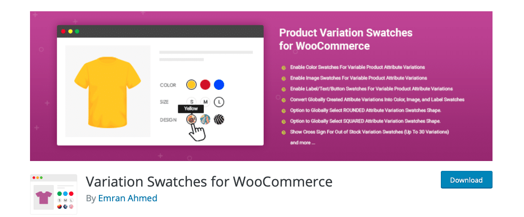 variation swatches for woocommerce