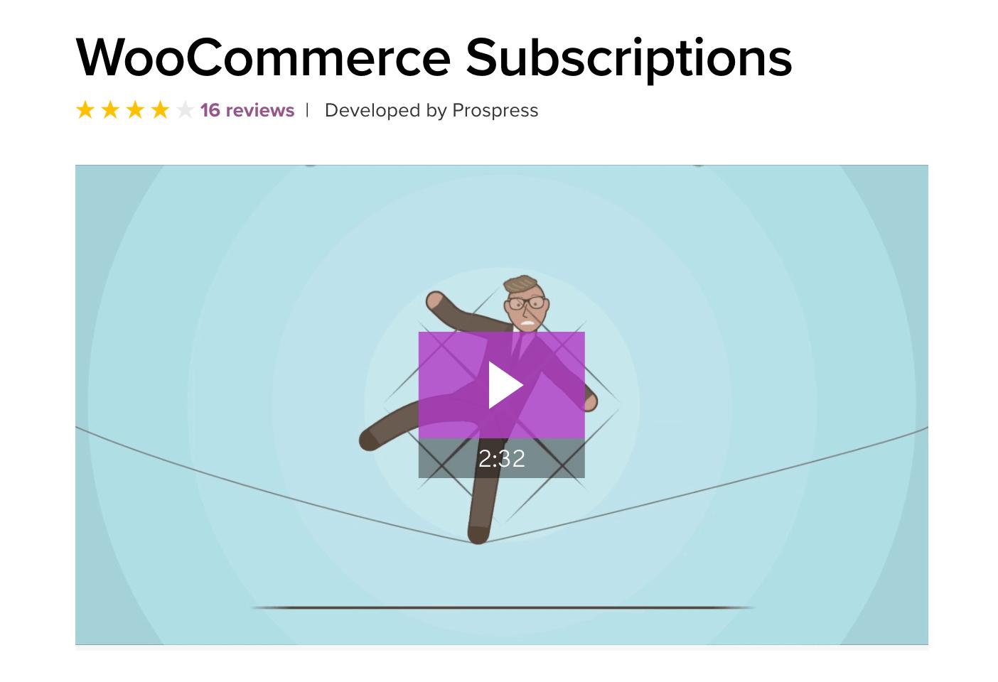 Die Erweiterung WooCommerce Subscriptons