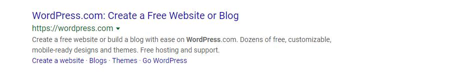 WordPress.com Metabeschreibung