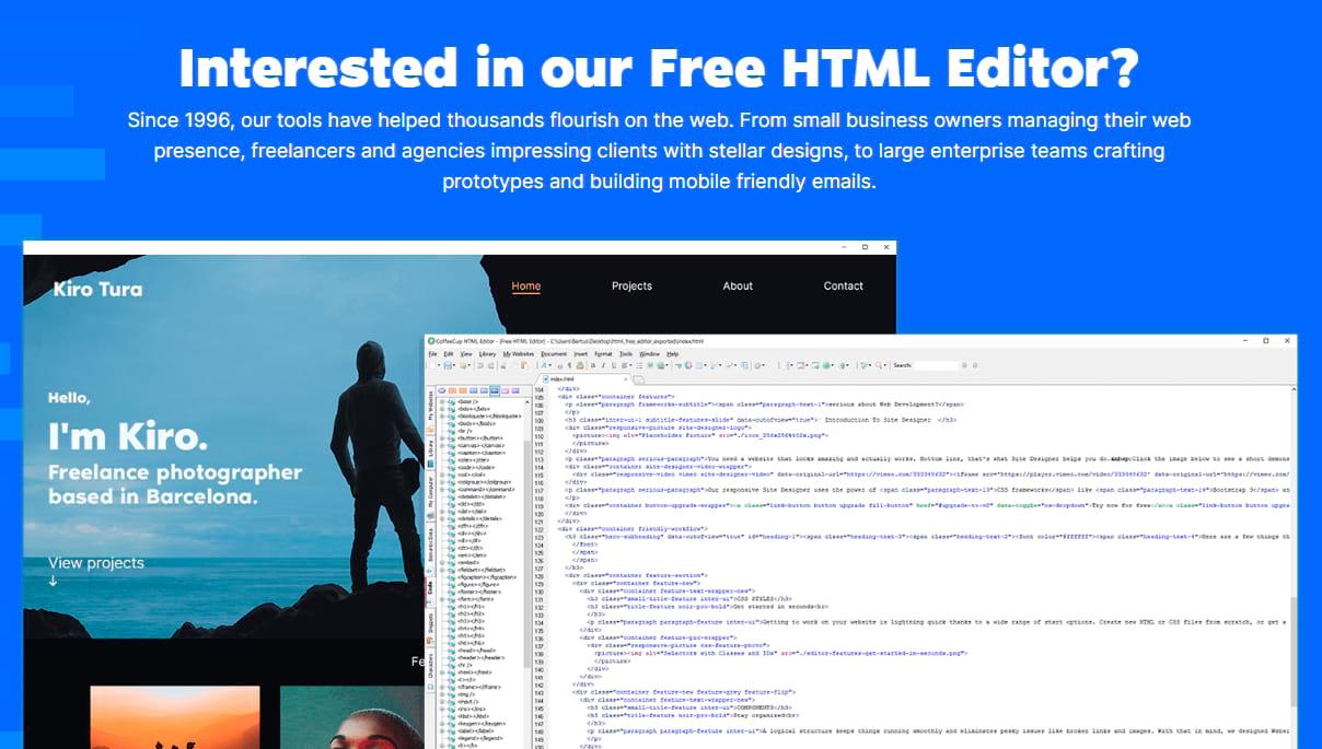CoffeeCup Free Editor