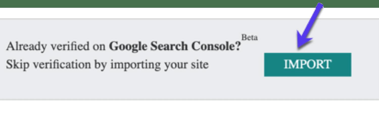 Einstellungen der Search Console in Bing importieren