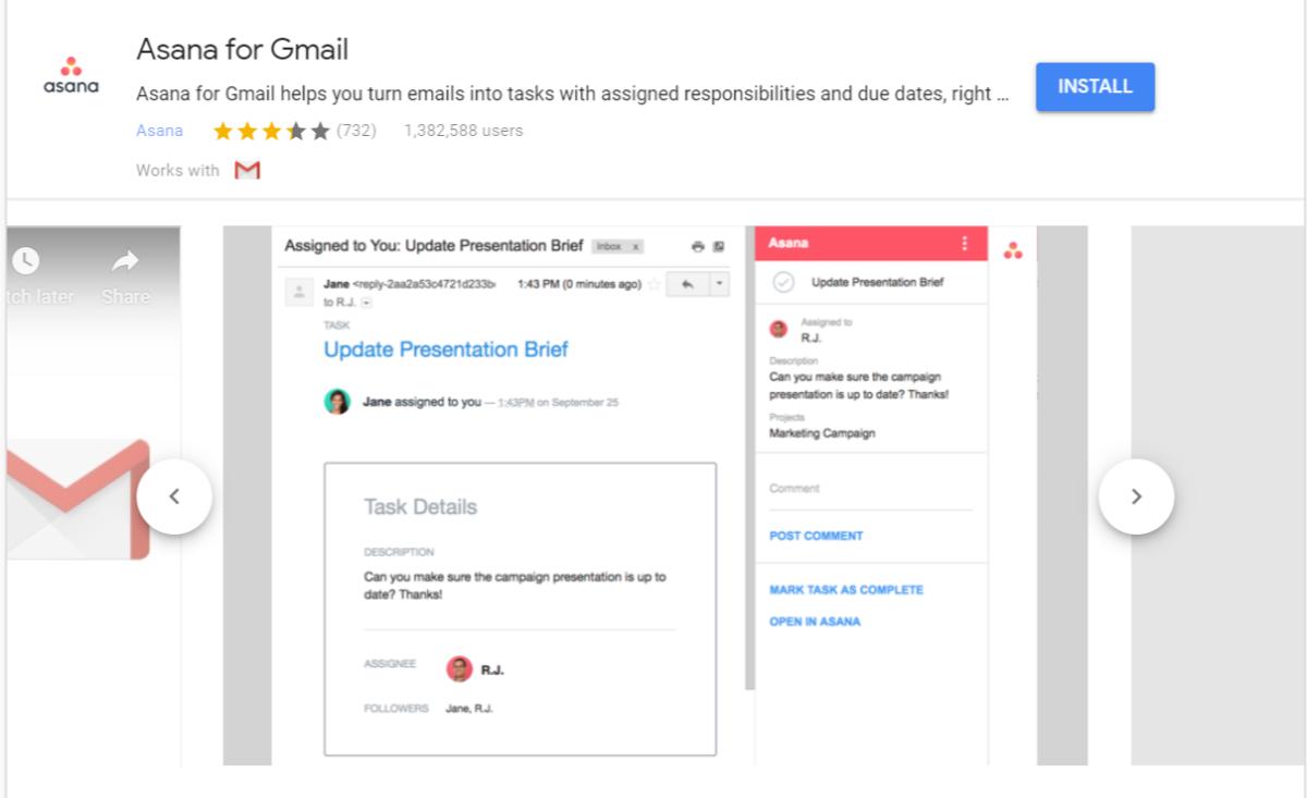 Asana für Gmail Add-On