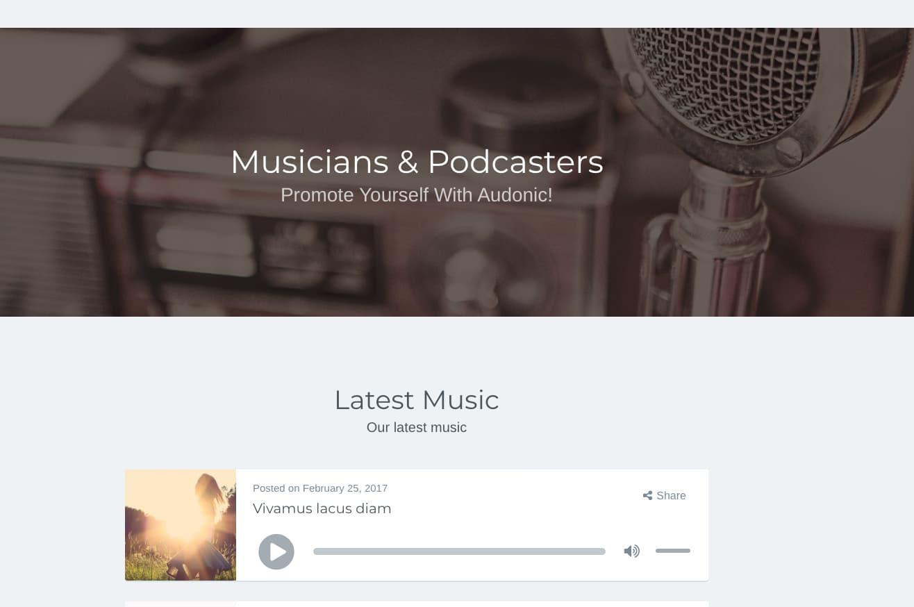 Audonic WordPress Theme
