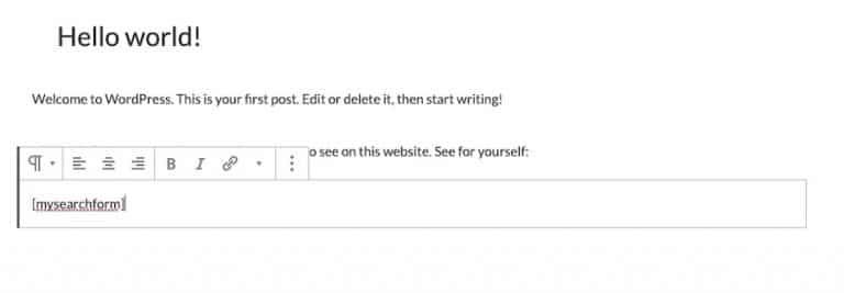 Ein benutzerdefinierter Kurzcode zum Hinzufügen einer Suchleiste zu deiner Seite