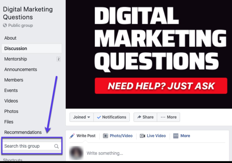 Digital Marketing Questions ist eine beliebte Facebook-Gruppe
