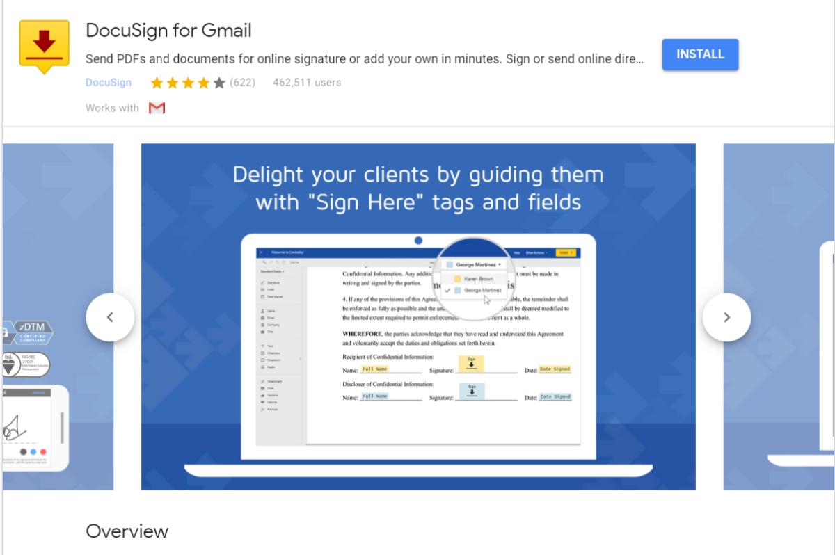 DocuSign für Gmail Add-on