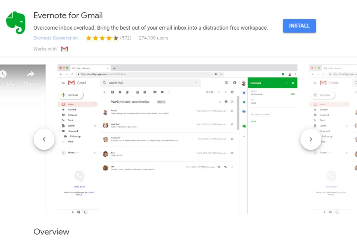 Evernote für Gmail Add-On