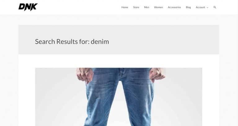 Standardanzeige der Suchergebnisse
