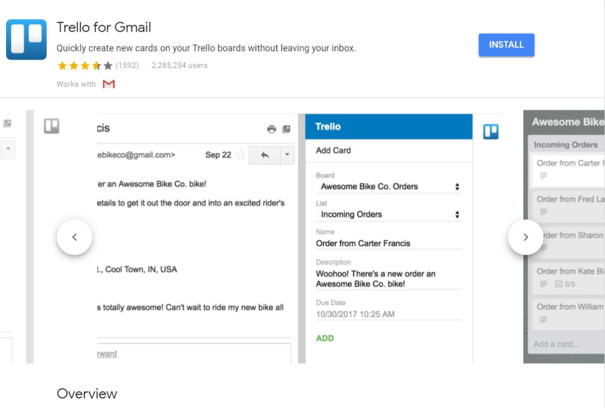 Add-On Trello für Gmail
