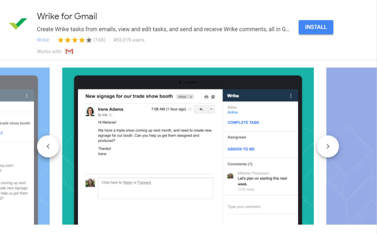 Wrike für Gmail Add-On
