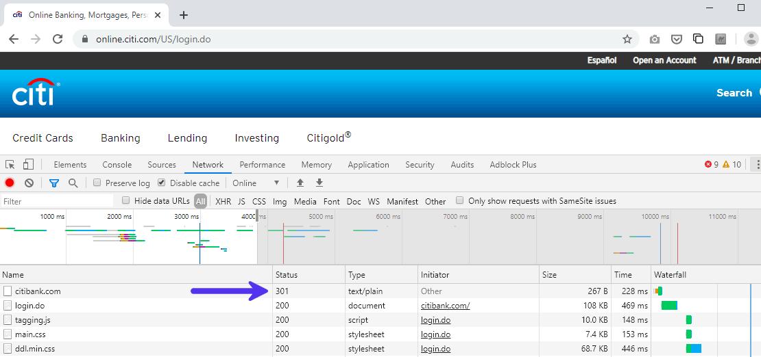 301 Antwort wird zur HTTPS-Version umgeleitet
