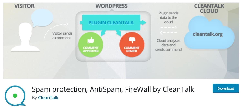 Spam-Schutz, AntiSpam, FireWall durch CleanTalk-Plugin