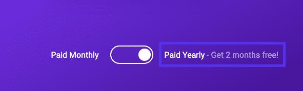 Der Jahresplan von Kinsta bietet zwei Monate kostenloses Hosting