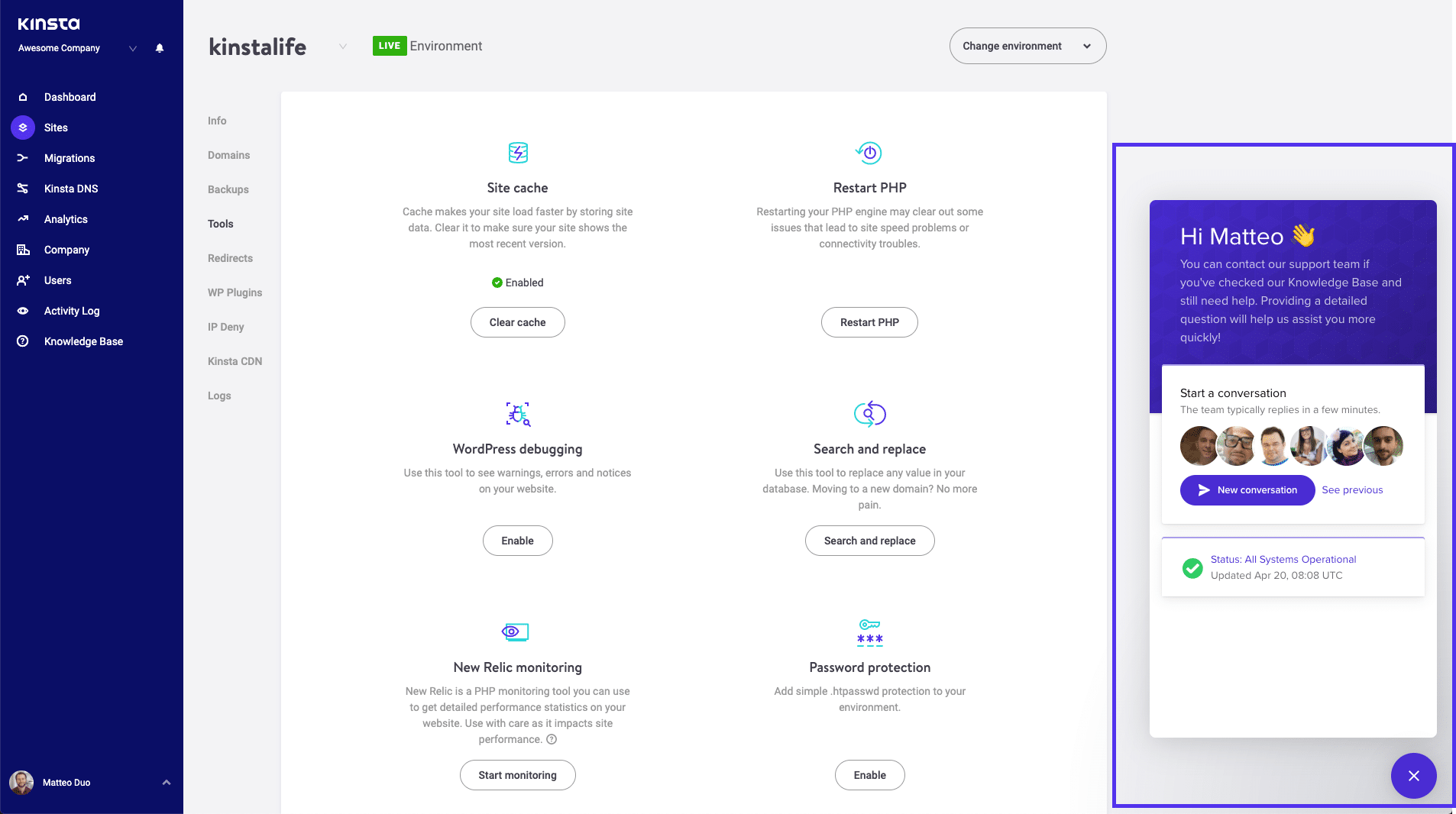 Wie man den Kinsta Support kontaktiert