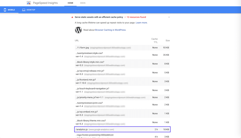 Ein Beispiel für eine Google Analytics-Warnung