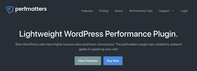 Perfmatters WordPress-Plugin