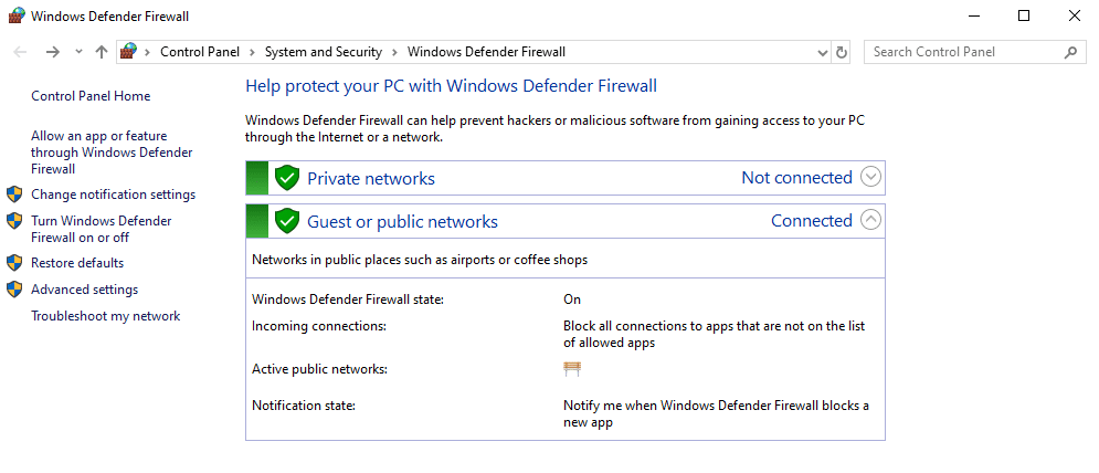 persönliche Firewall