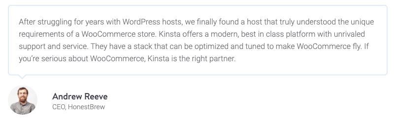 Ecommerce hosting: Kinsta