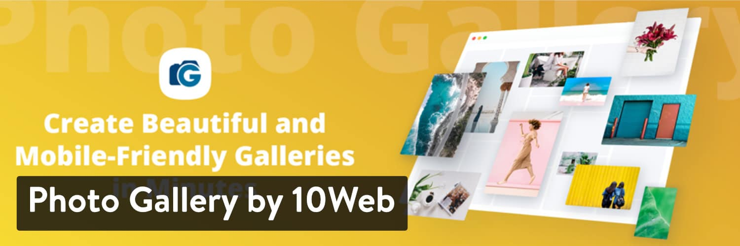 Fotogalerie von 10Web WordPress-Plugin