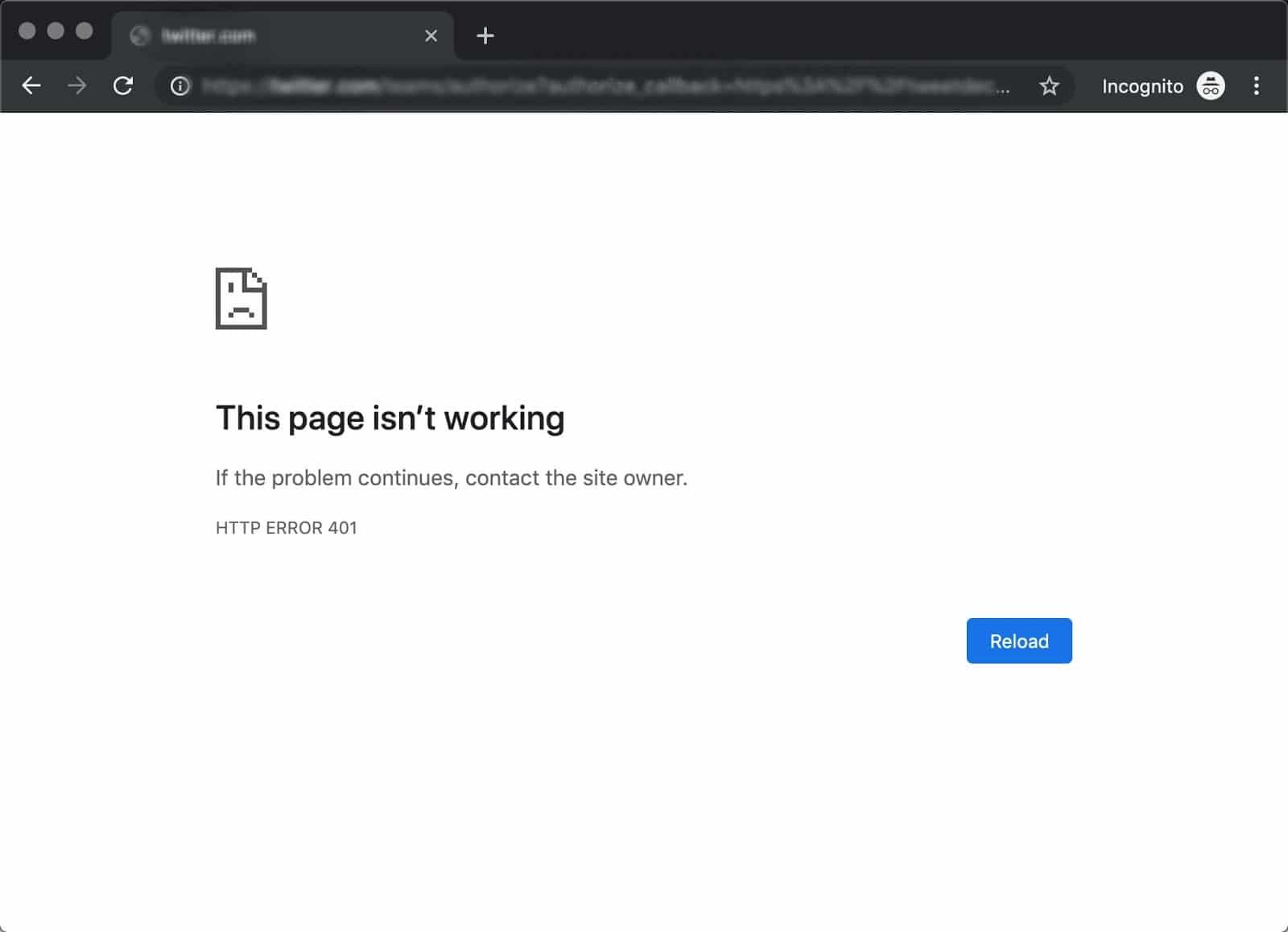 Der 401 Fehler in Chrome