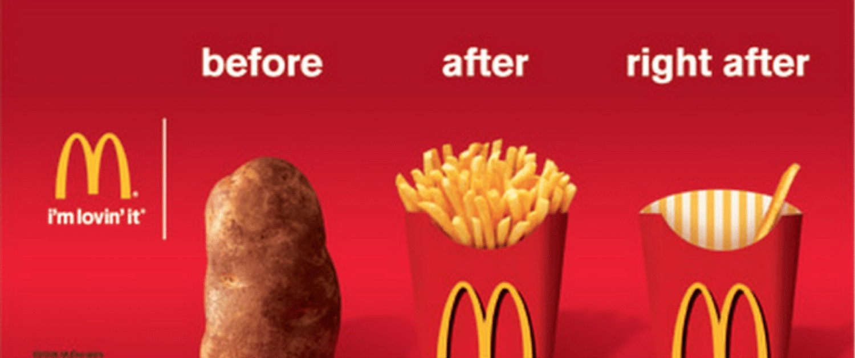 McDonald's Bannerwerbung Beispiel