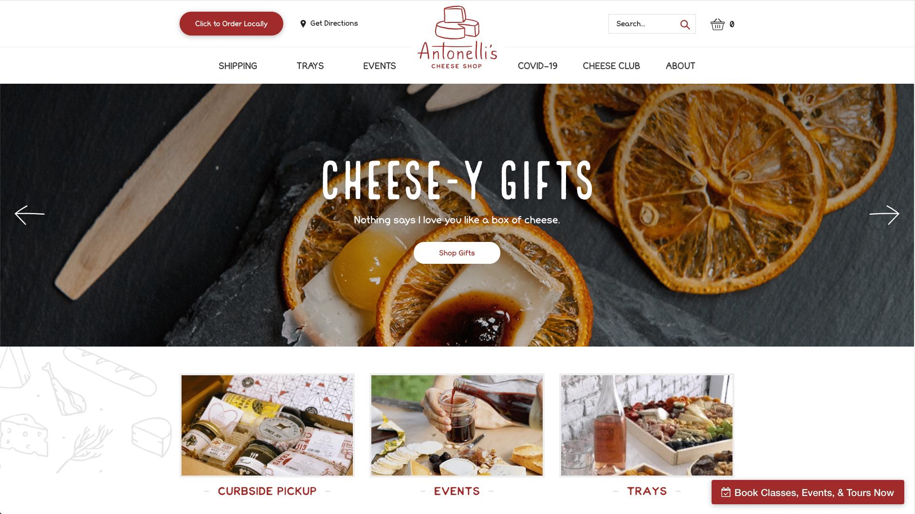 Antonelli's Cheese Shop, handwerkliche Käsesorten