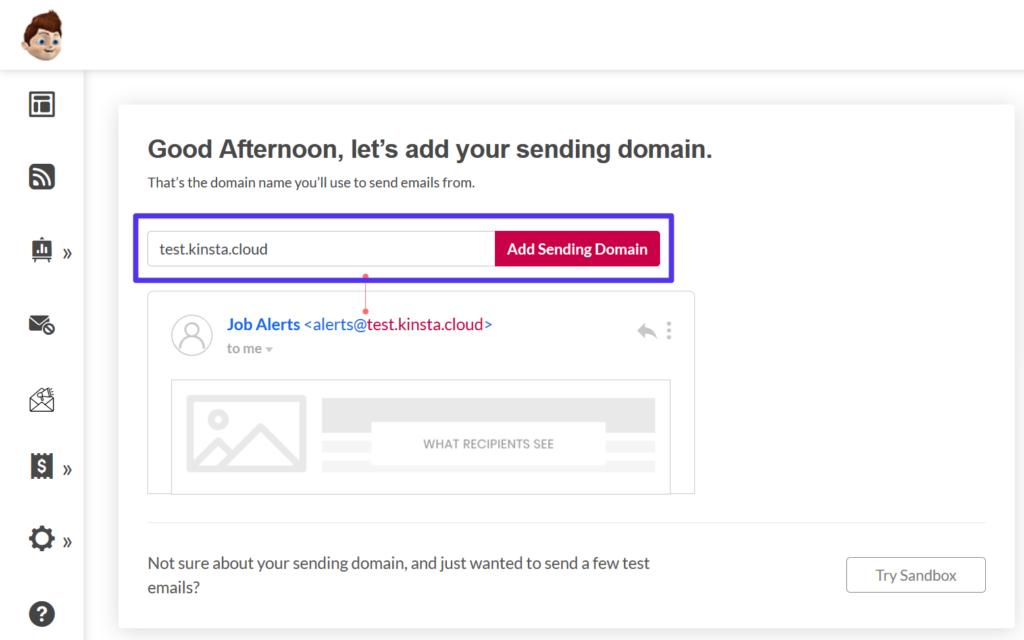 Domain zu Pepipost hinzufügen