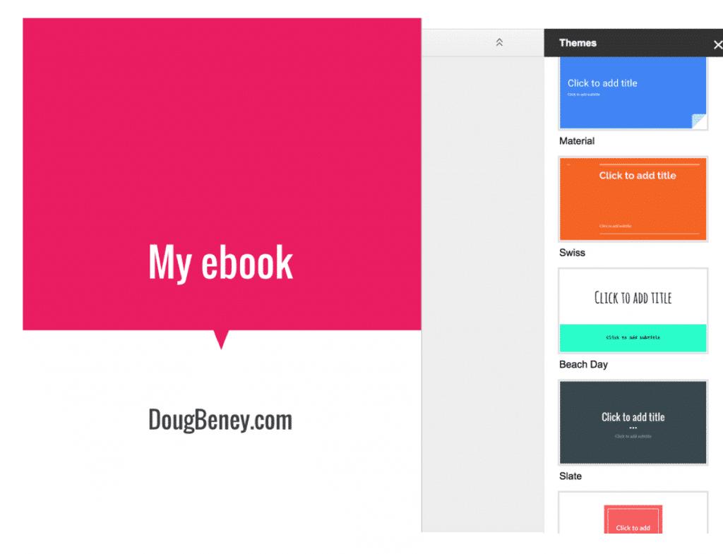 Ebook in Google Slides