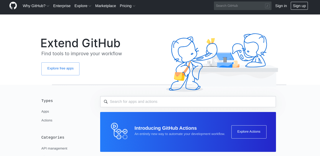 Der GitHub-Marktplatz
