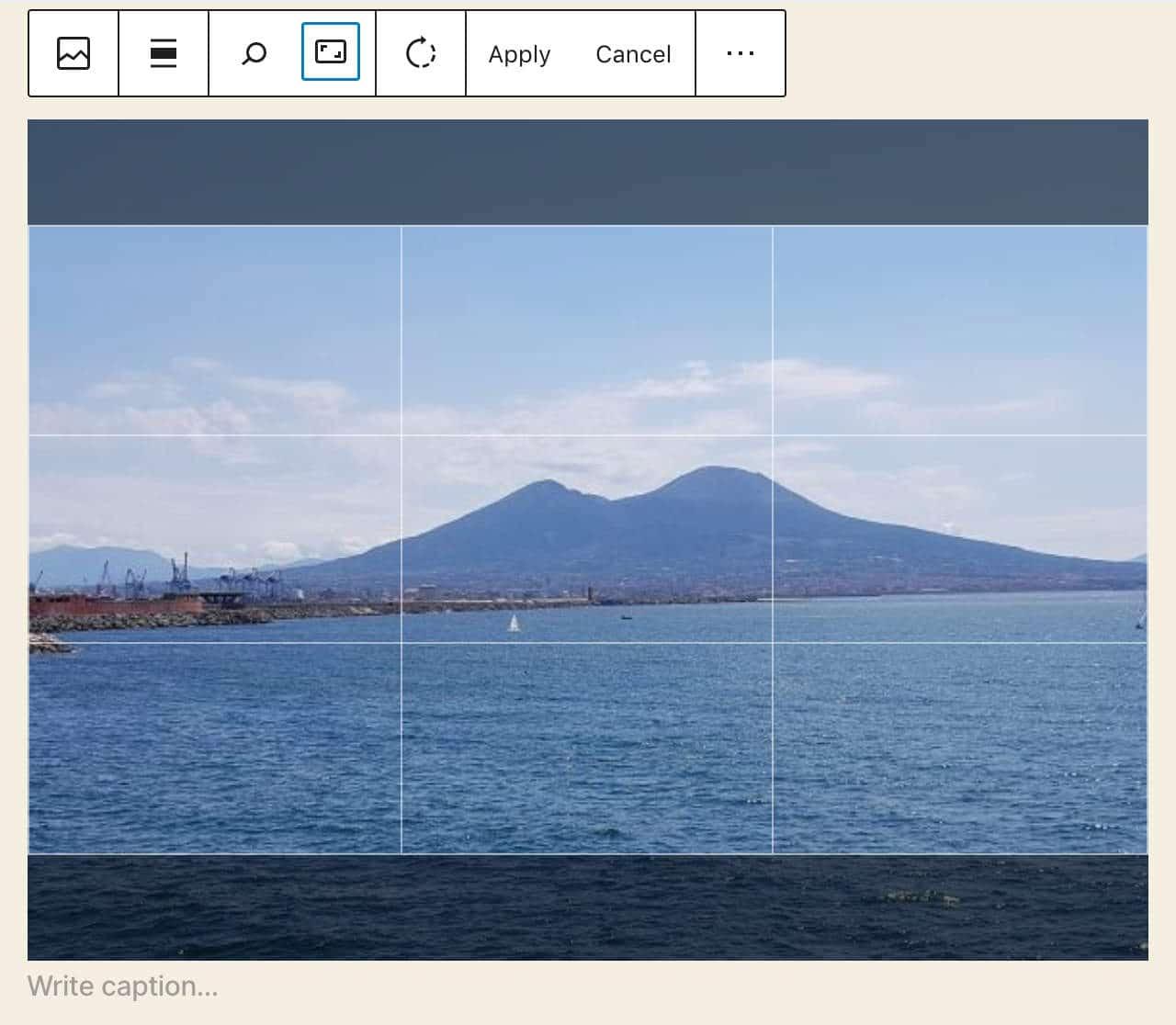 Inline-Bildbearbeitung in WordPress 5.5