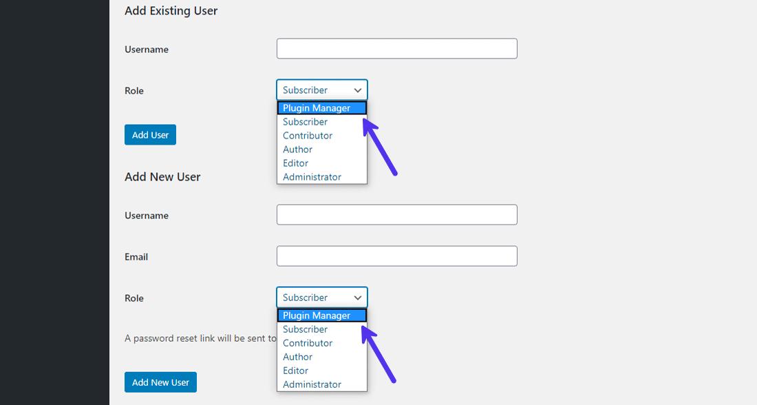 Zuweisen der benutzerdefinierten Benutzerrolle an neue Benutzer für eine Subsite