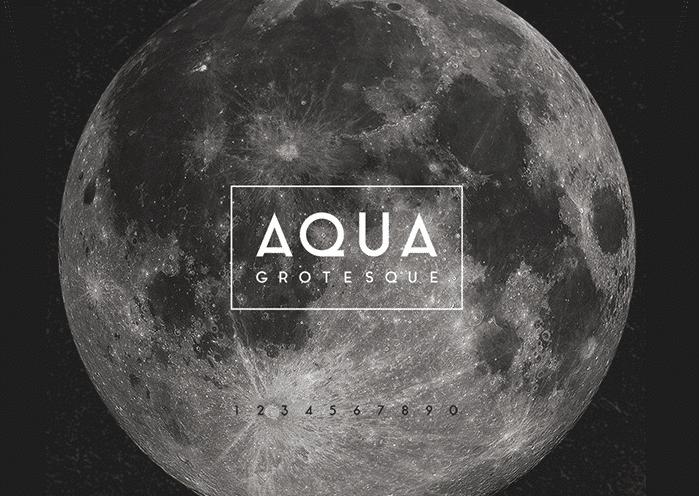 Modern fonts: aqua