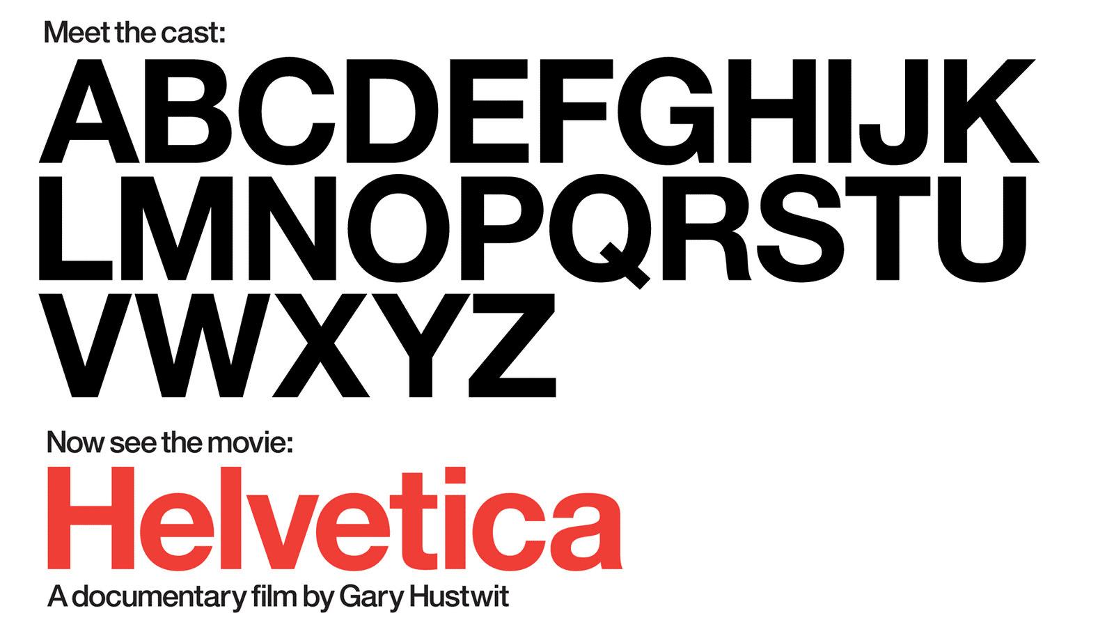 Dokumentation über die Schriftart Helvetica