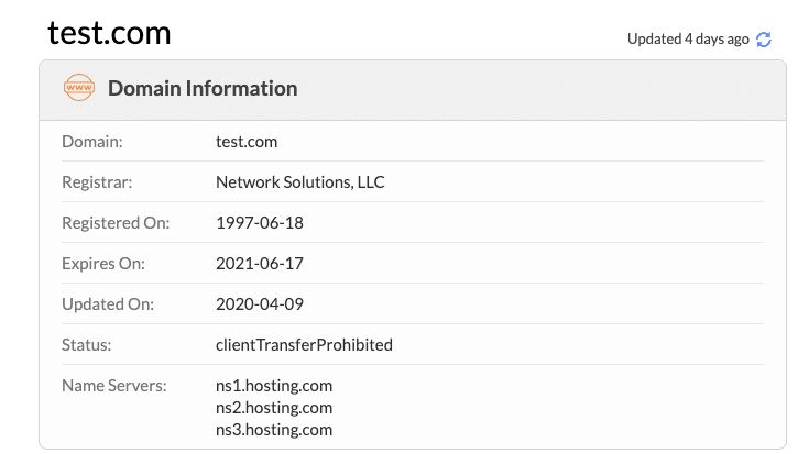 Überprüfe mit Whois, welchen Nameserver deine Webseite benutzt.